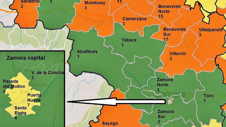 Zamora registra nueve áreas en riesgo naranja por COVID, la mayoría en el norte