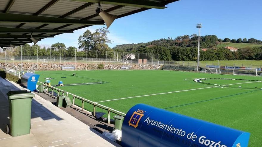 El Marino ya tiene donde entrenarse: las instalaciones de Balbín, en Luanco, se abren mañana