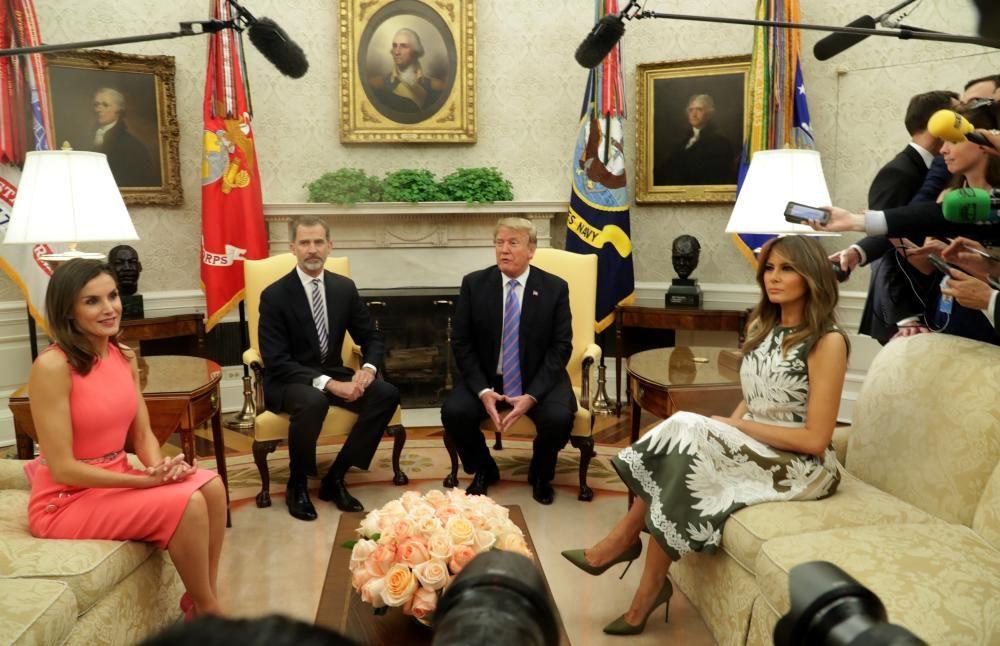 Con Donald y Melania Trump
