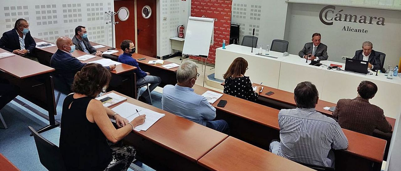 Un momento de la reunión celebrada en la Cámara de Comercio de Alicante.   