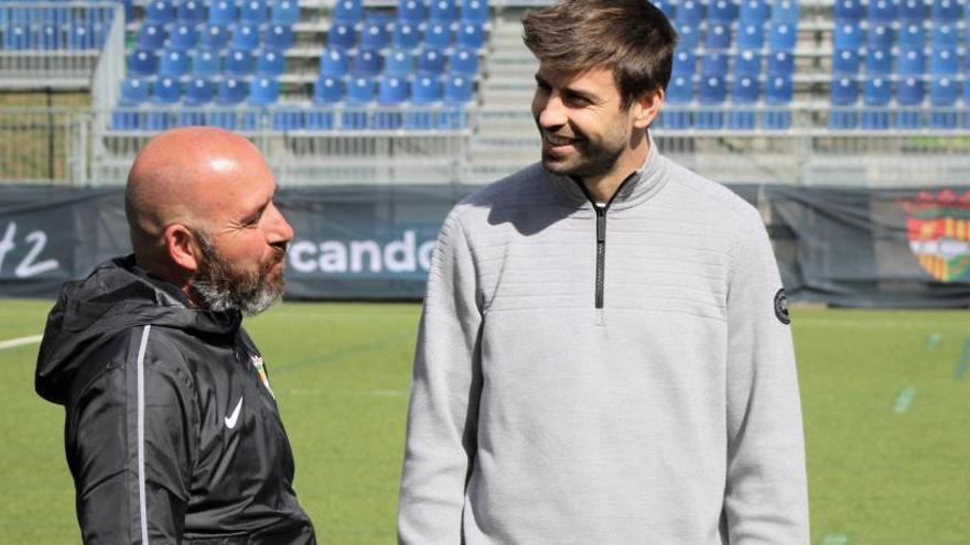 Piqué respalda al nuevo técnico del Andorra antes de visitar al Hércules