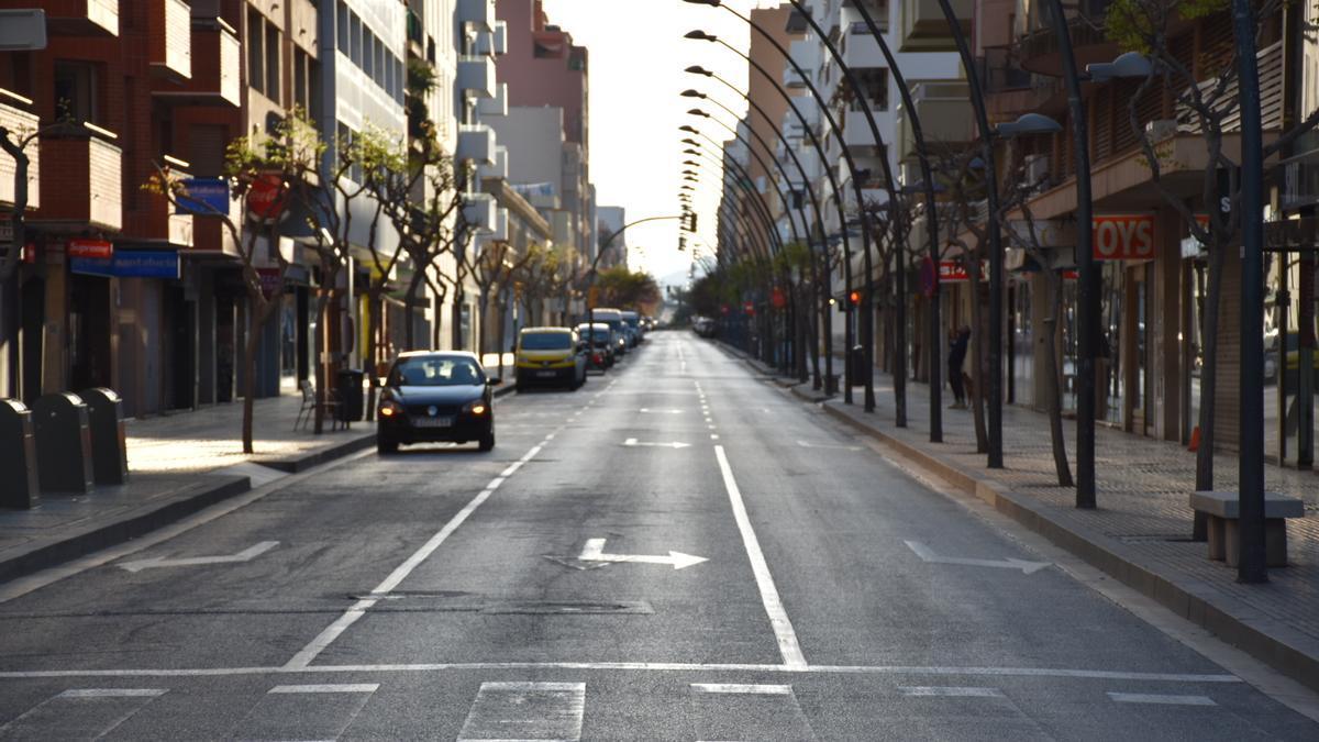 Calles vacías unos días después de iniciarse el confinamiento, en marzo de 2020.