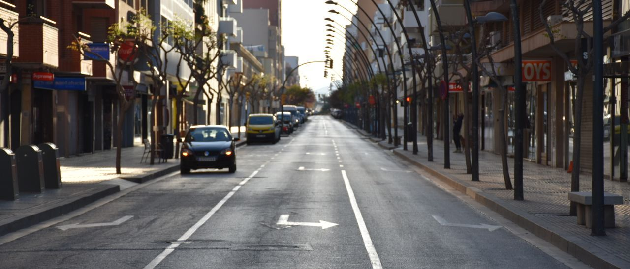 Calles vacías unos días después de iniciarse el confinamiento, en marzo de 2020. César Navarro
