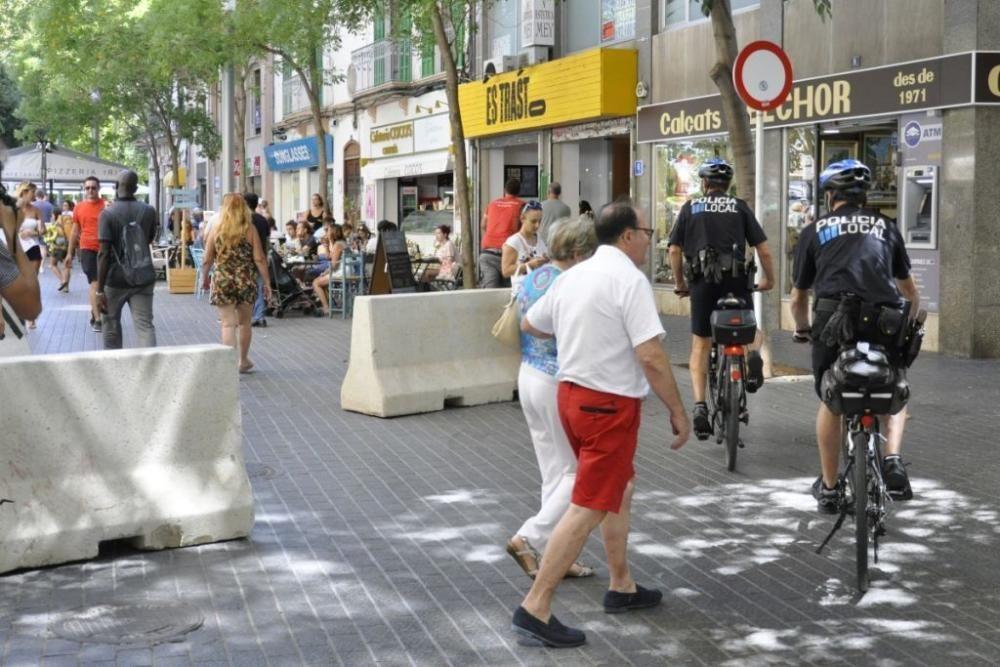 Am Freitag wurden in Palma de Mallorca zusätzliche Anti-Terror-Barrieren installiert.