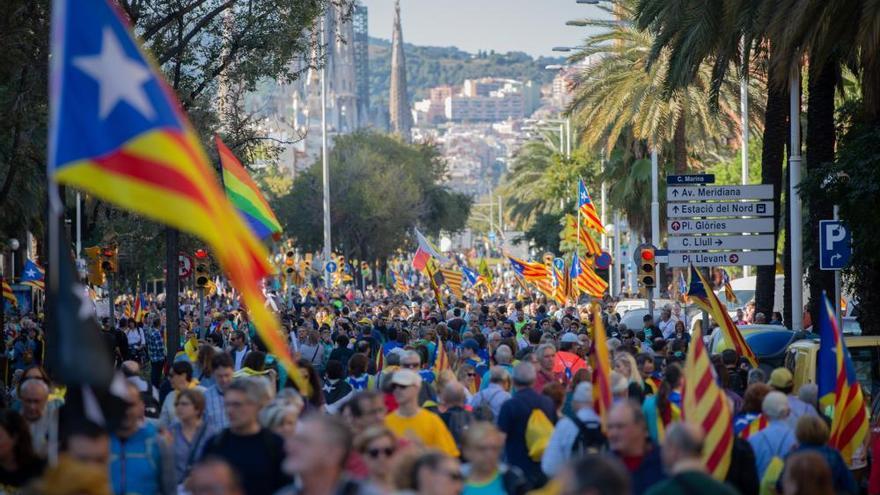 Manifestación en Barcelona contra la sentencia del 'procés'