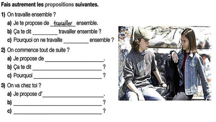 Primera activitat del segon trimestre d'Amuse-toi en Français