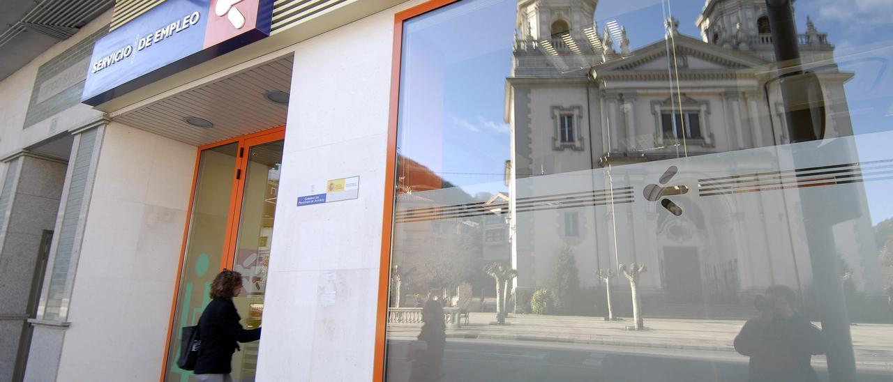 La oficina del Servicio Público de Empleo en Mieres.