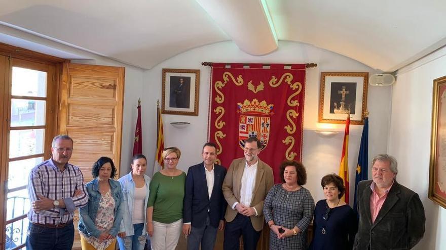 Rajoy, Sáenz de Santamaría y Méndez de Vigo, de visita por Abanilla