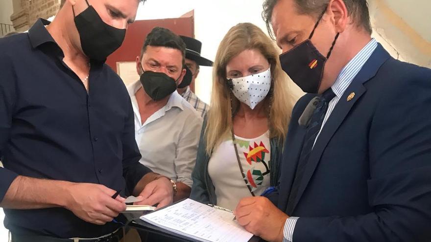 VÍDEO | La alcaldesa de Castelló asiste al sorteo del mano a mano Manzanares&Roca Rey