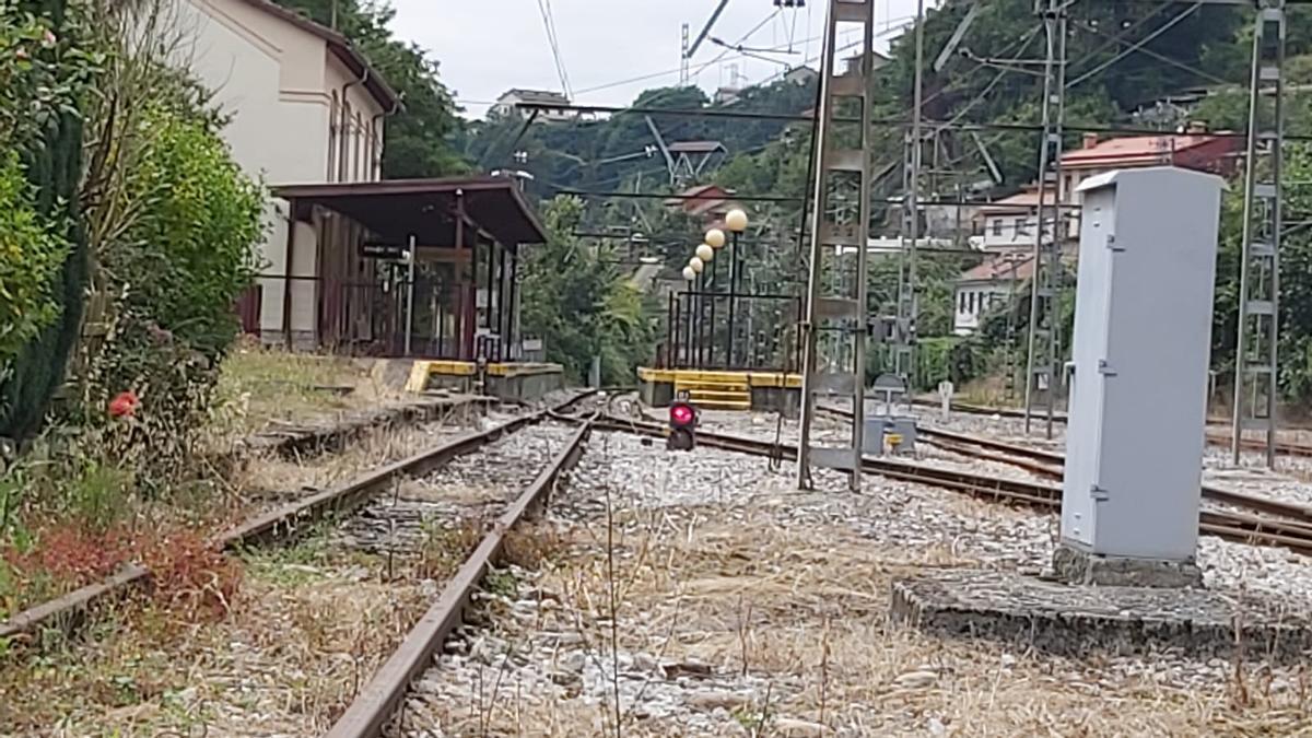 La estación de Feve de El Entrego.