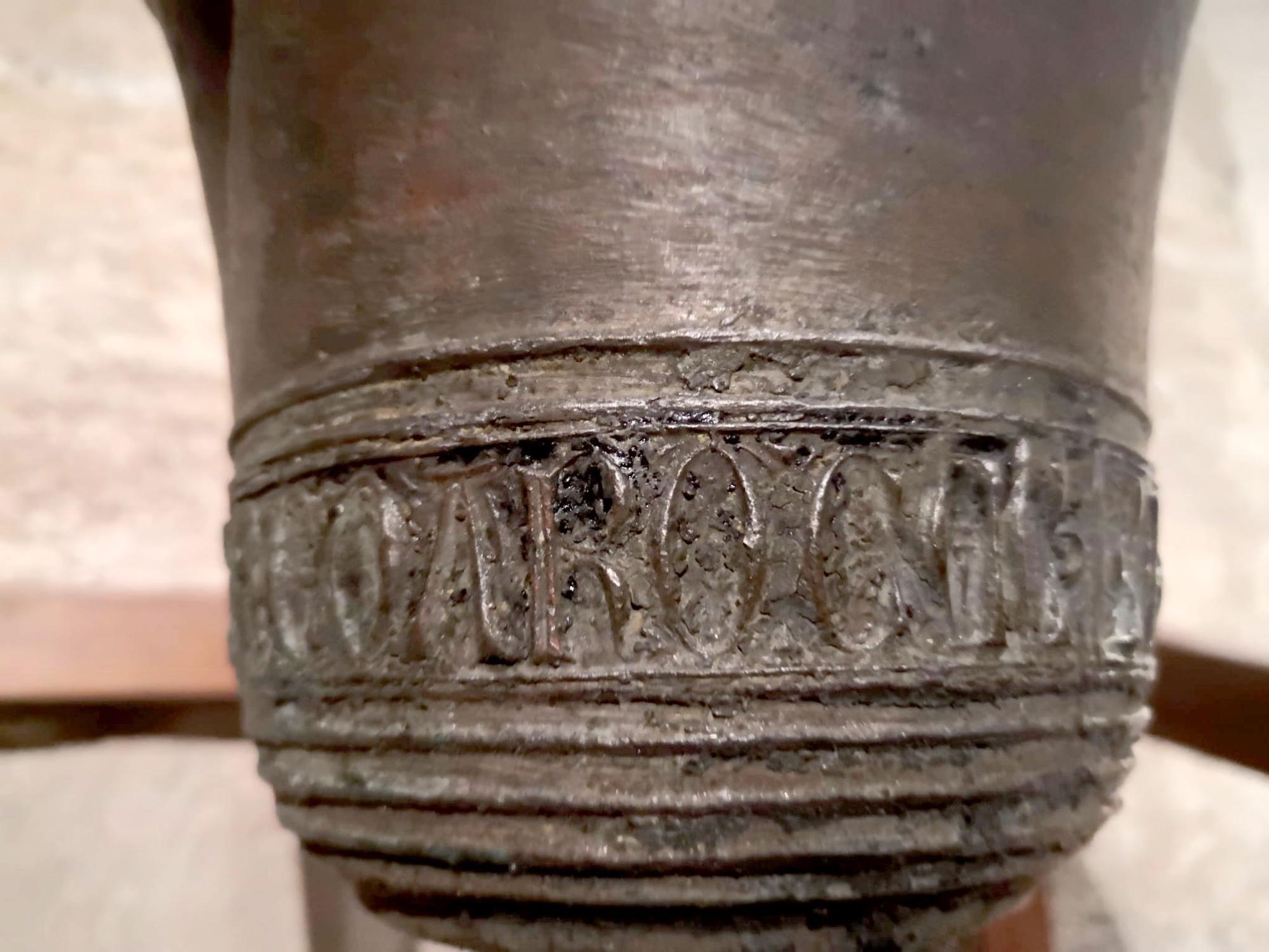 El Museo de la Catedral expone la campana más antigua de Valencia, datada en el año 1240