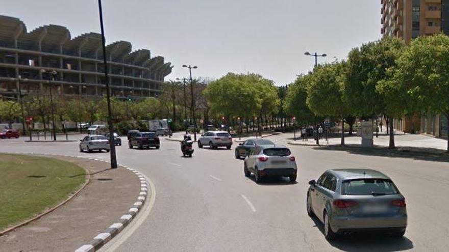 Detenida por circular a 117 km/h por la avenida Cortes Valencianas de València