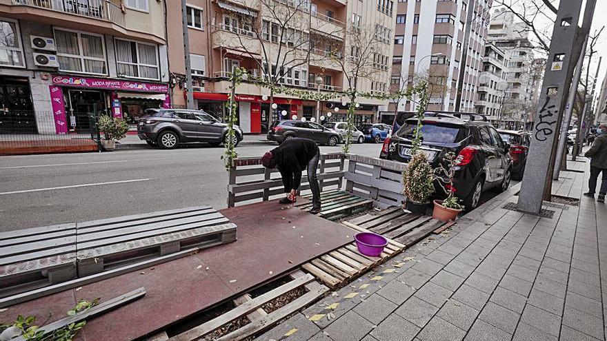 Jarabo no descarta prorrogar  las terrazas en los aparcamientos