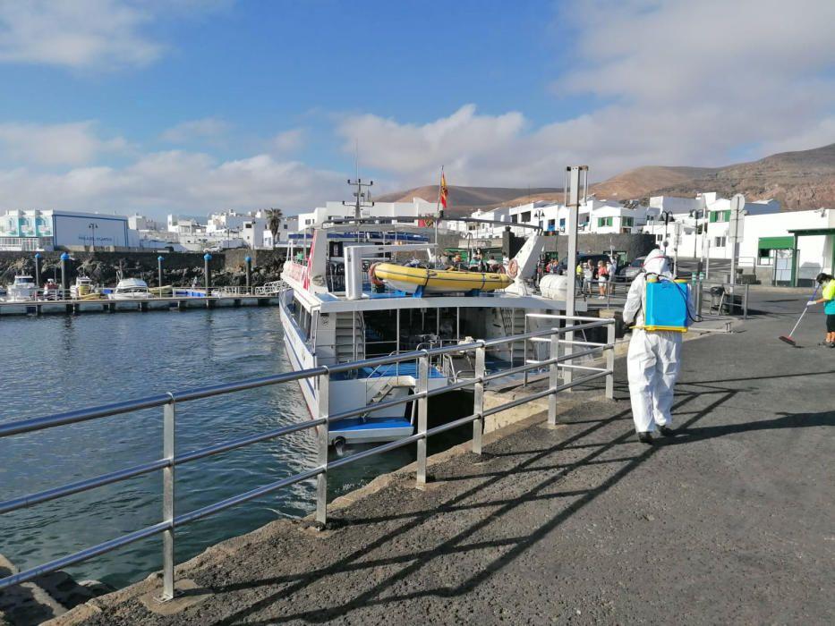 Coronavirus en Canarias | Limpieza de puntos estra