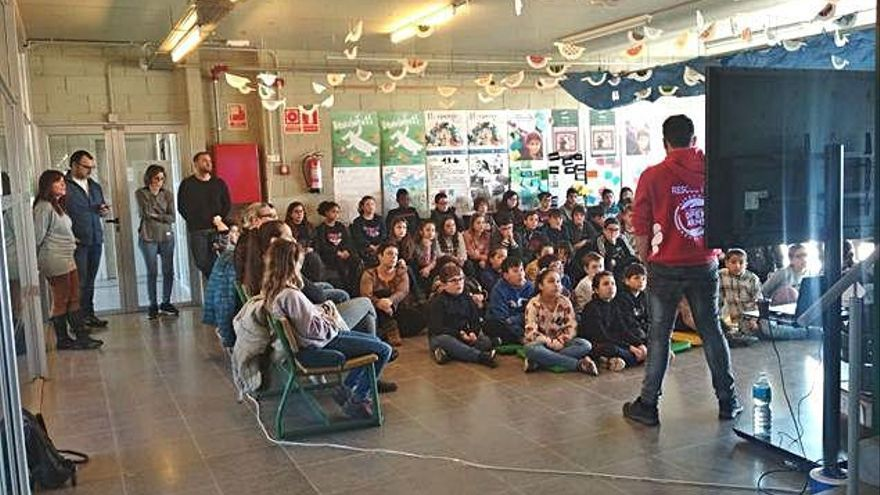 El «carrilet del futur» de la pedagogia a Palafrugell