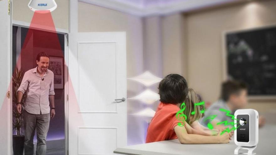 Una empresa china usa la imagen de Pablo Iglesias para un sistema antirobo