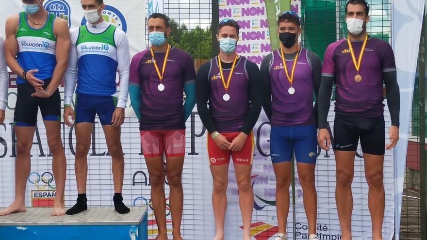 Los asturianos Pedro Vázquez, Juan Oriyés, Sara Ouzande y Andrea Rodriguez, primeras medallas de oro en el Campeonato de España de sprint olímpico