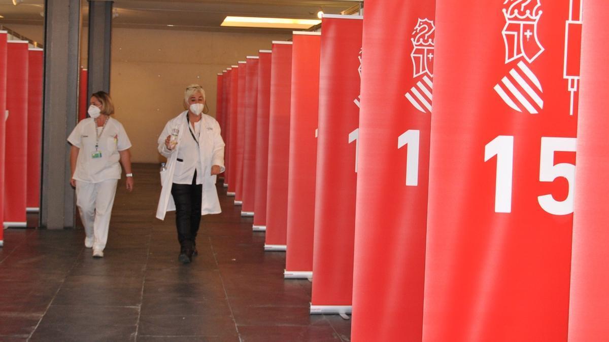 Ya está todo listo en el Auditorio de Castellón para vacunar a partir del lunes.