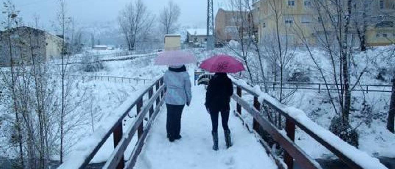 El último temporal de nieve incomunicó Bocairent.