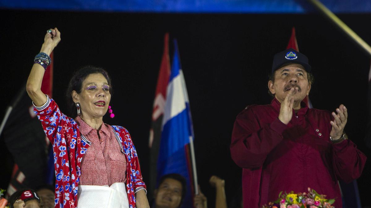 Daniel Ortega y su esposa, Rosario Murillo, en una imagen de archivo.