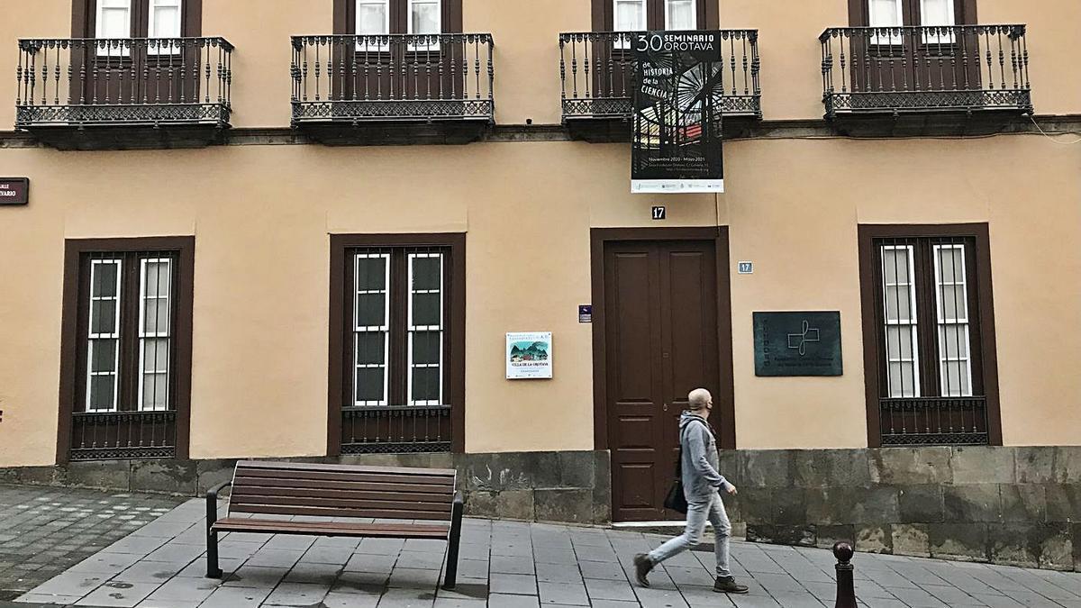 El futuro museo se ubicará en la sede de la Fundación Canaria Orotava de Historia de la Ciencia, en la calle Calvario.