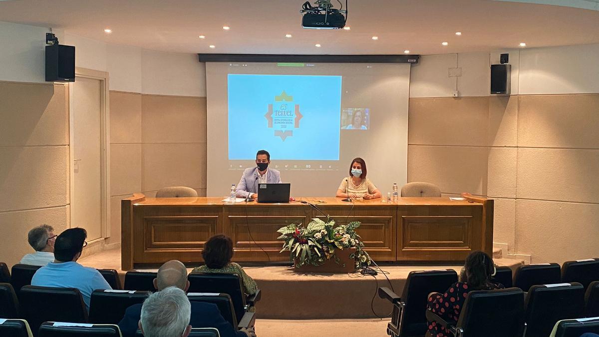 Presentación del logotipo y la web de la Capitalidad de la Economía Social 2021, este miércoles en Teruel