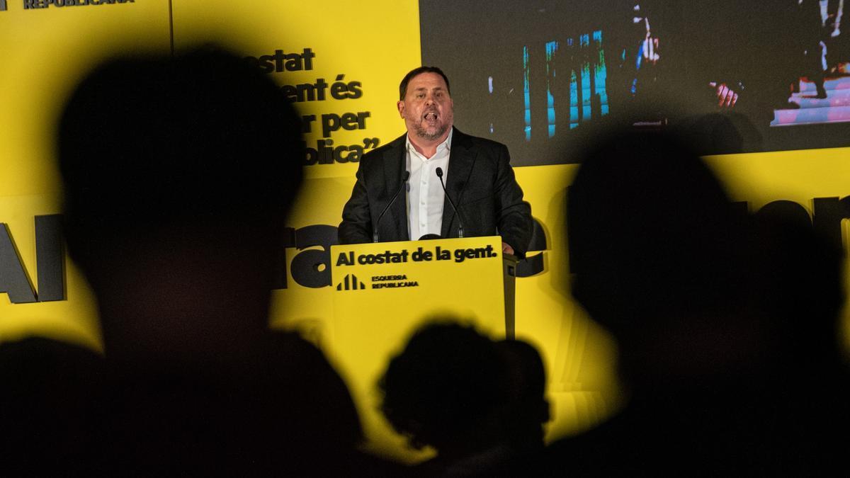 Oriol Junqueras, en un acto de ERC