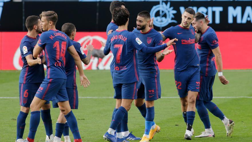 El Atlético de Madrid sufre, pero gana a su estilo al Celta