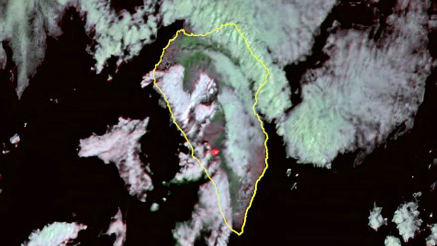 La lava aporta un escenario insólito de pruebas para la cámara infrarroja del IAC