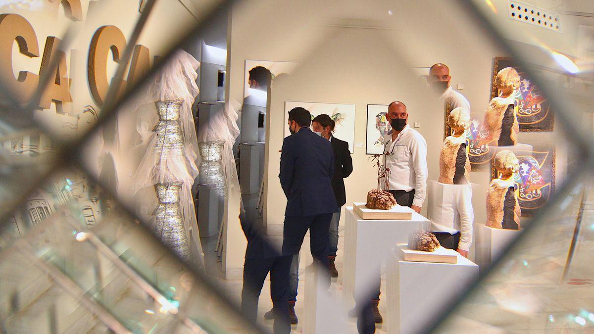 La exposición, el día de su inauguración.