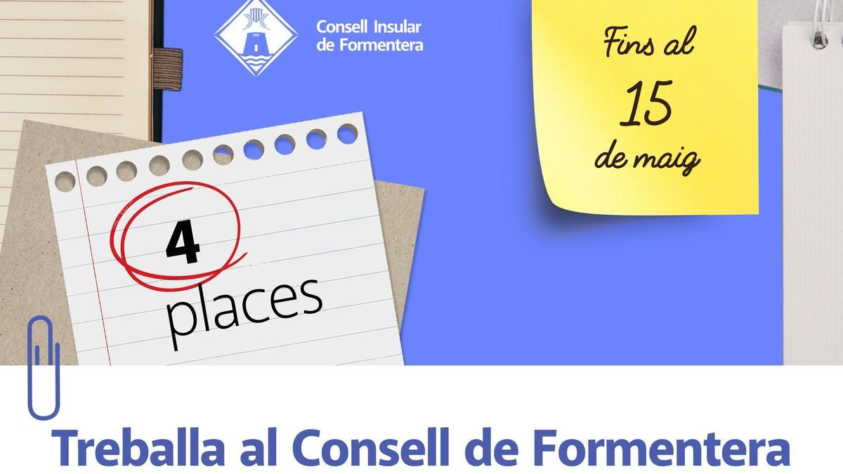 Oferta de trabajo en Formentera