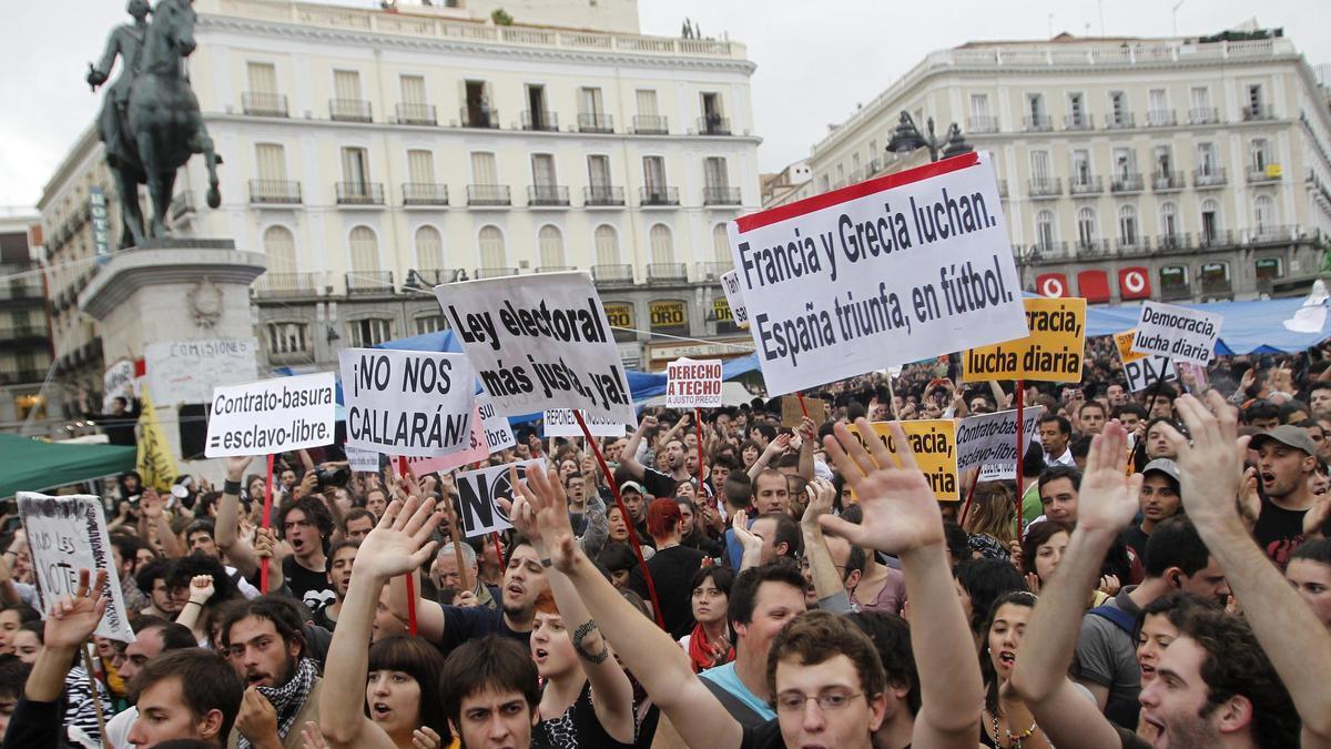 Puerta del Sol de Madrid en una imatge d'arxiu de fa deu anys