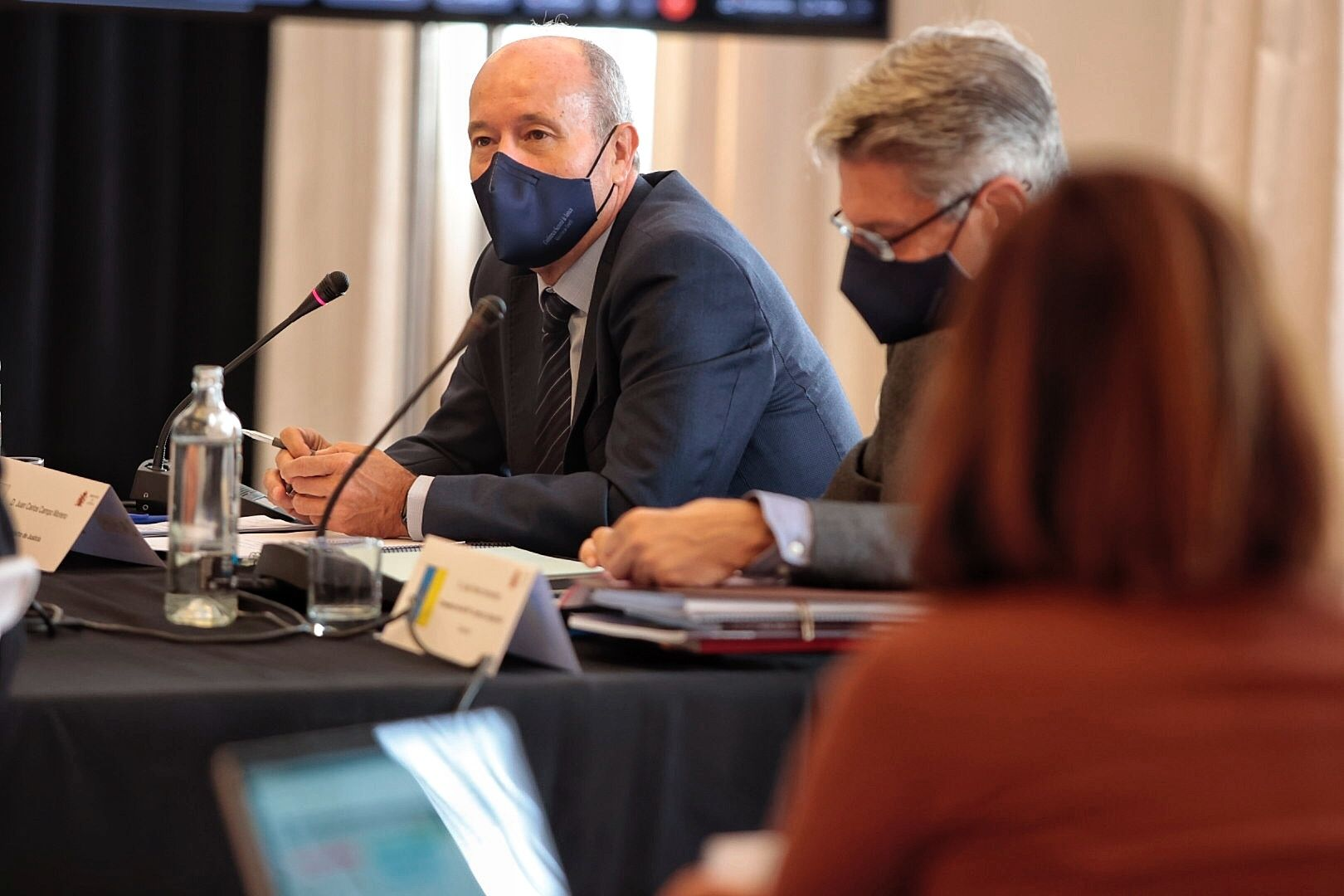 El ministro de Justicia, Juan Carlos Campo, en la reunión de la Conferencia Sectorial de Justicia