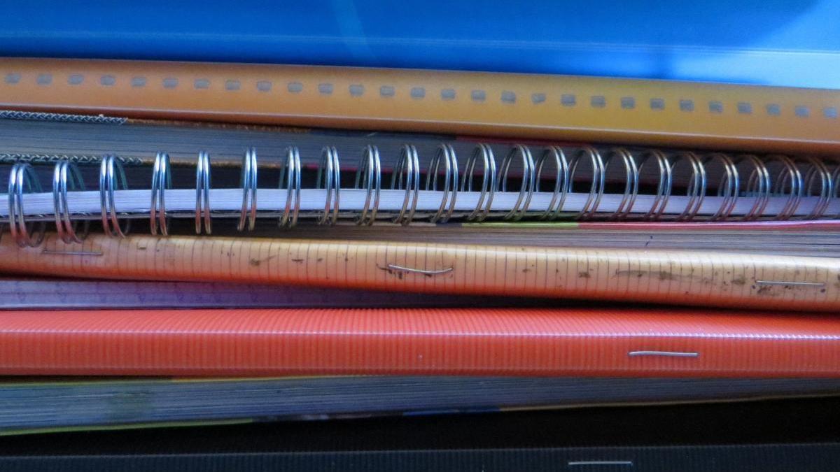 Material escolar, foto d'arxiu