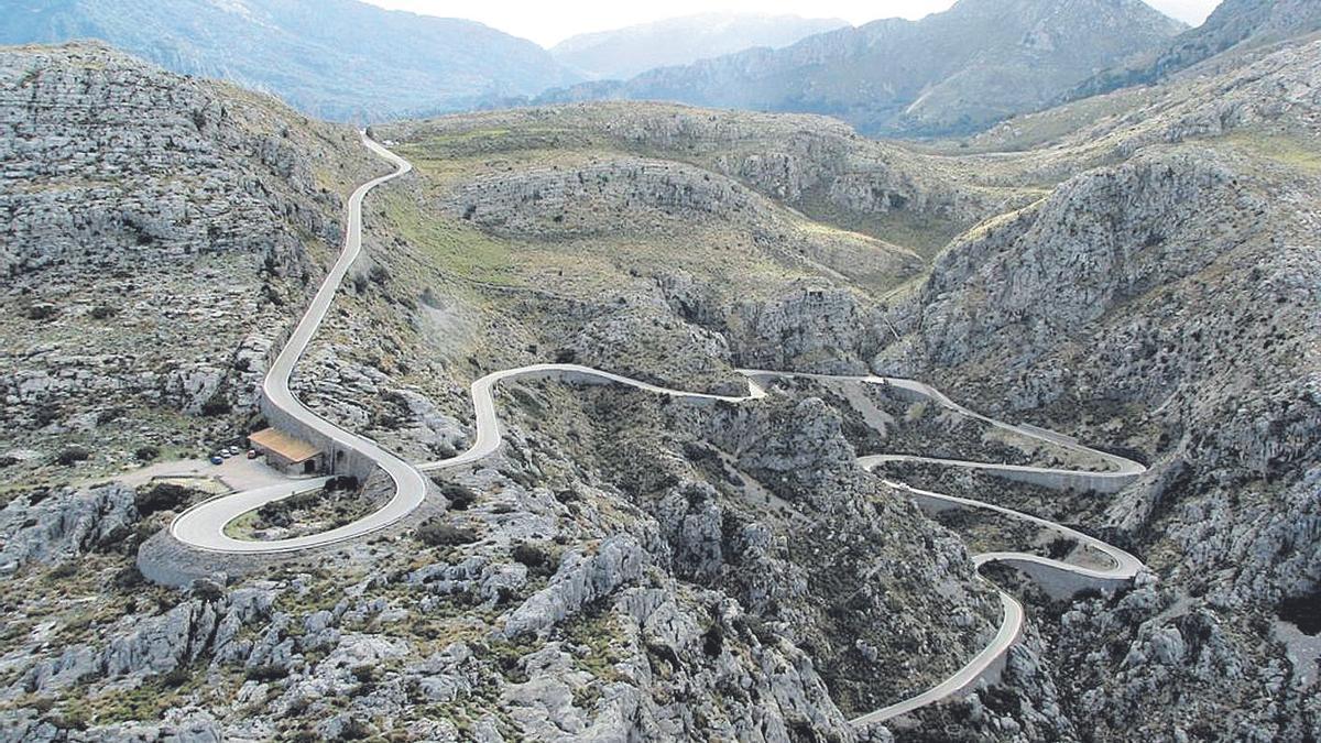 Carretera de la Serra de Tramuntana, donde tuvo lugar el accidente mortal.