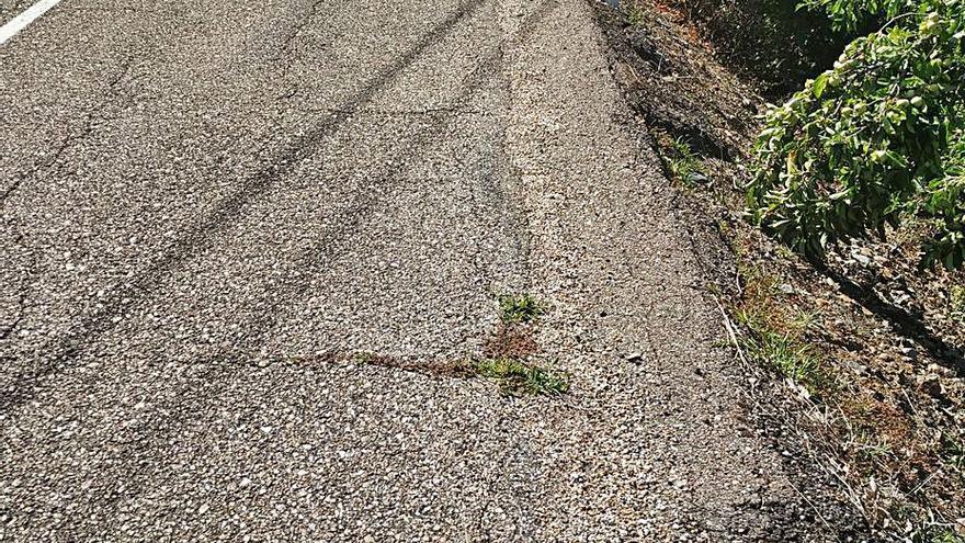 La carretera de Nuez amplía su calzada de 5 a 7 metros de ancho