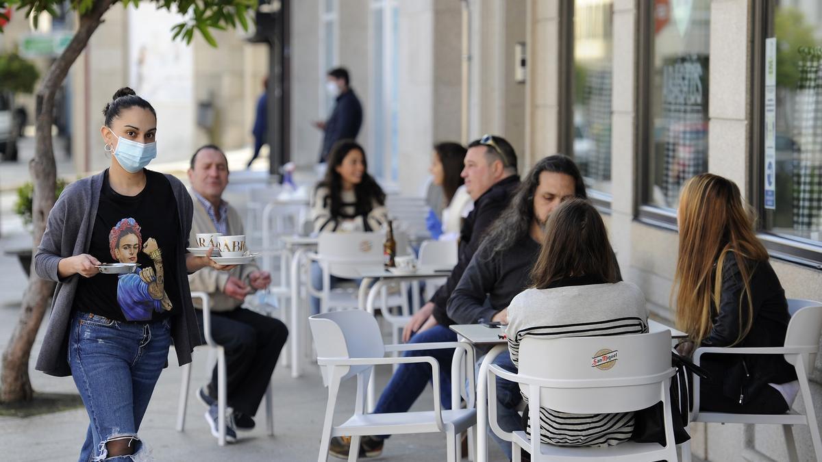 La ocupación de las terrazas queda limitada al 50%. // Bernabé/Javier Lalín