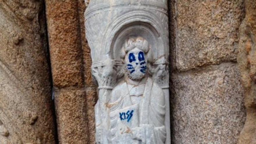 Pintada en la catedral de Santiago