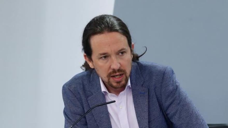 Iglesias anuncia que el Gobierno ampliará en breve la prohibición de los desahucios