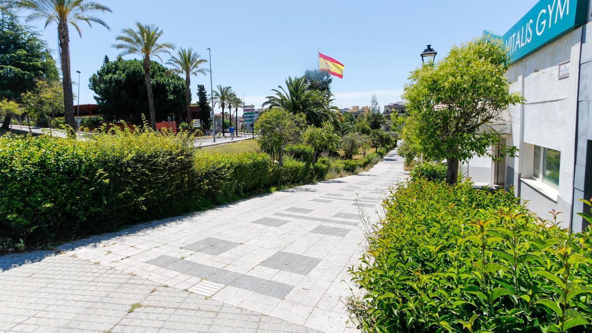 Estado actual que presenta el parque Juan de Ávalos.