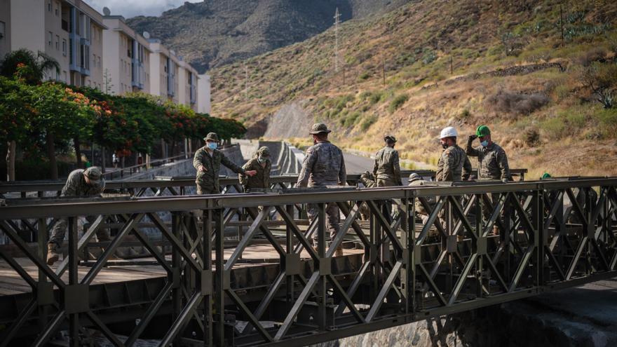 El puente militar de San Andrés, a punto