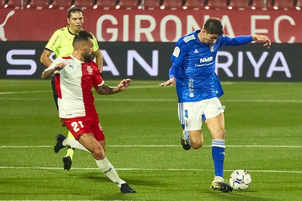 El partido del Oviedo en Girona, en imágenes