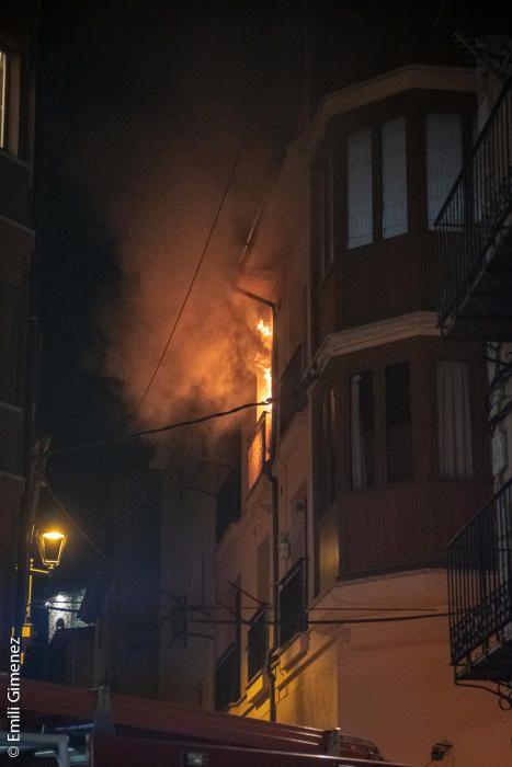Incendi en un bloc de pisos de Puigcerdà