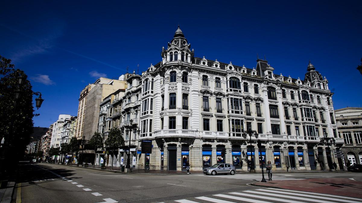 Viviendas de la calle Uría de Oviedo