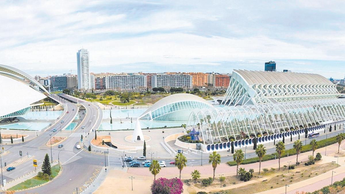 La Ciutat de les Arts i les Ciències en València.