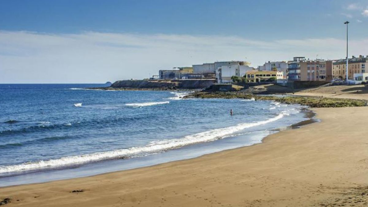 Playa de Salinetas en Telde.