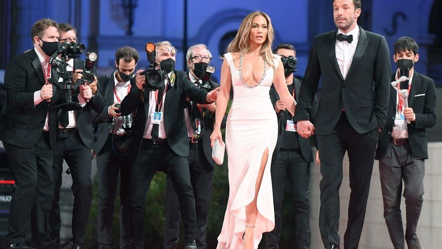 Ben Affleck y Jennifer Lopez, juntos en la alfombra roja de Venecia