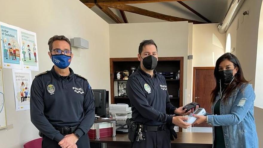 Un analizador de drogas con impresora para la Policía de Alguazas