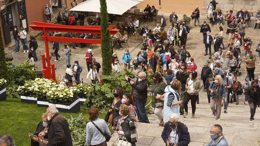 La covid-19 no frena els visitants de Temps de Flors entre setmana