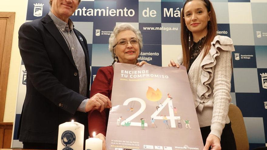 Málaga se une a Manos Unidas en una campaña para 'iluminar' la pobreza